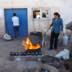 raku firing in Avanos with Ayse